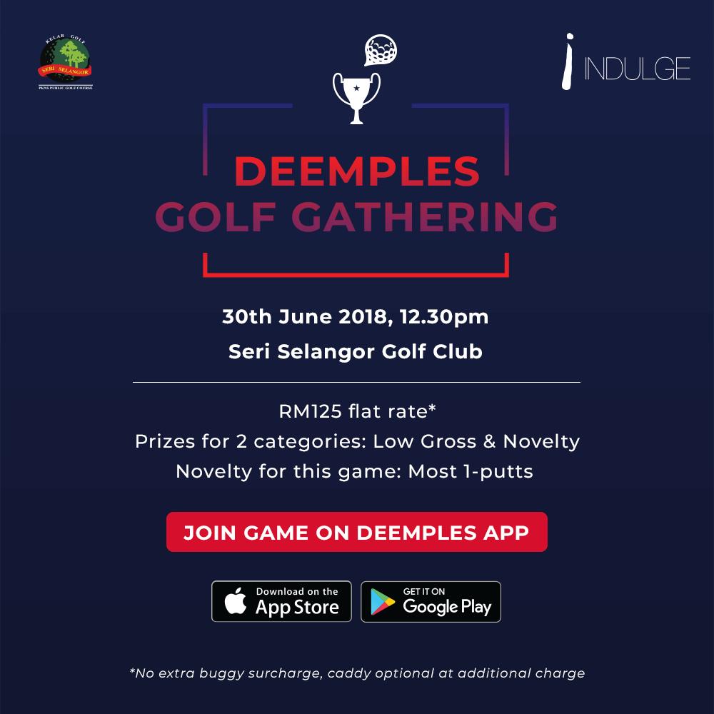 Deemples: golf gathering golf tournament at Seri Selangor with TGV Indulge