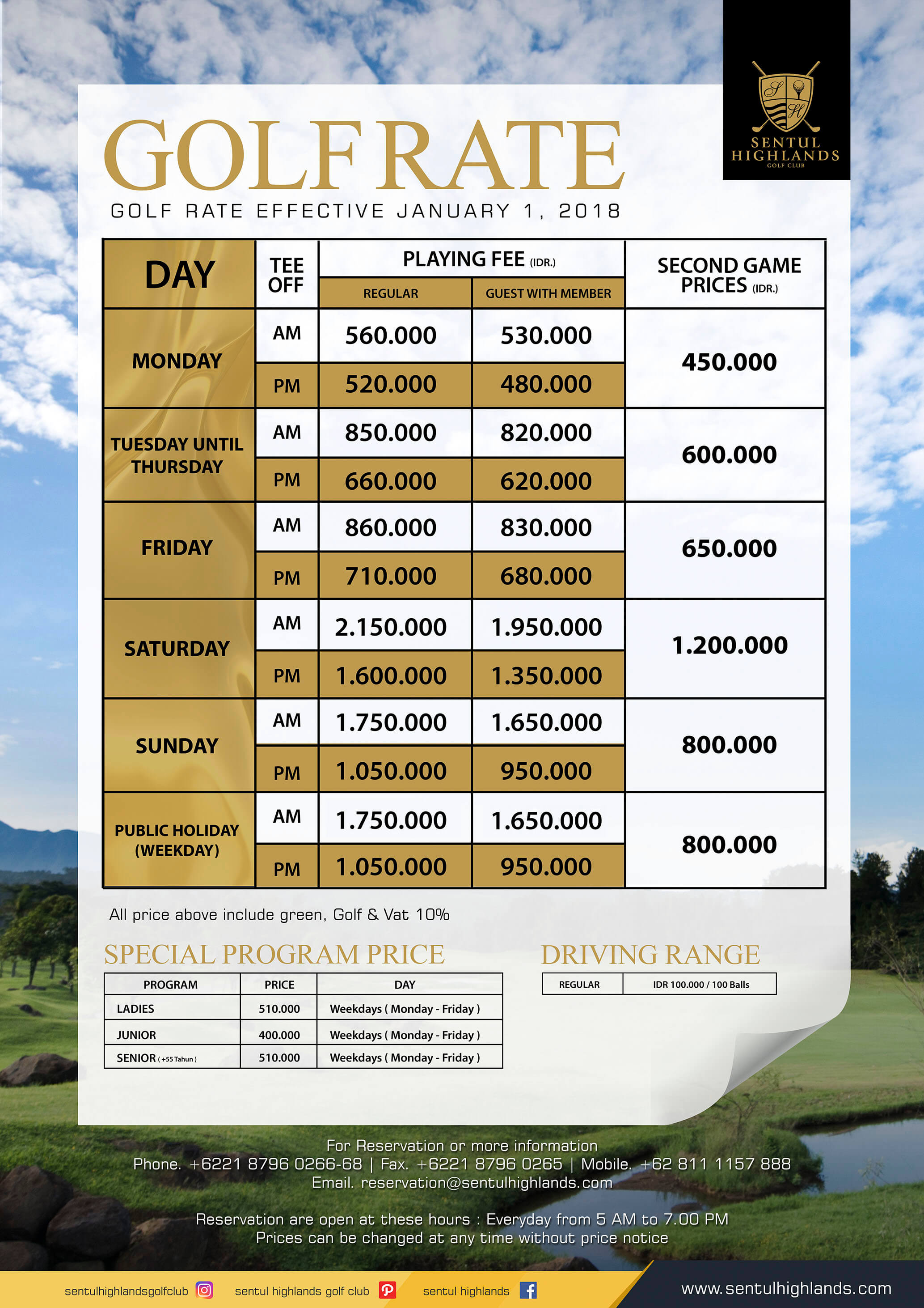 sentul highlands golf club bogor indonesia deemples