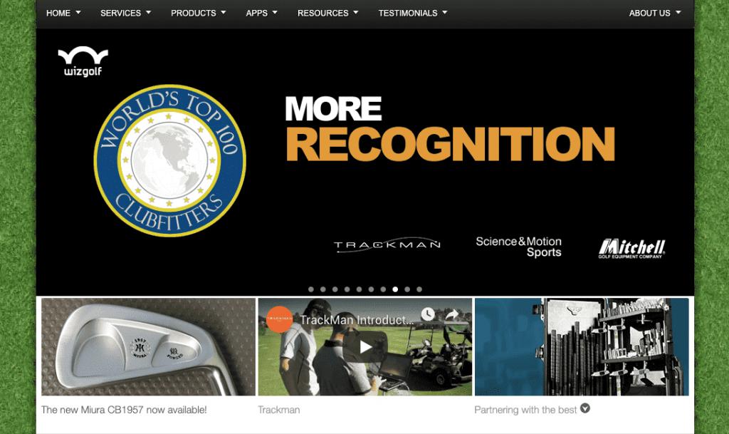 website of wiz golf